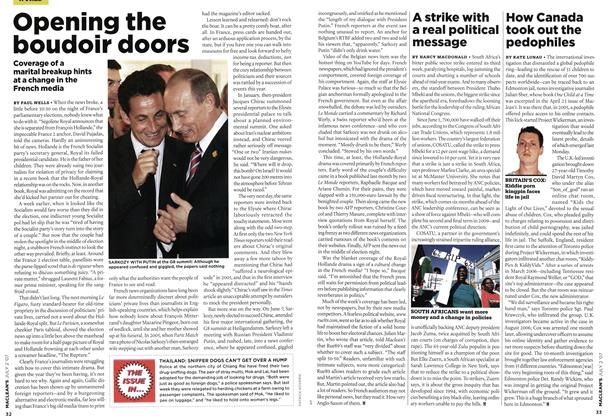 Article Preview: A strike with a real political message, JUL. 2nd 2007 2007 | Maclean's