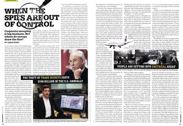 Article Preview: WHEN THE SPIES ARE OUT OF CONTROL, JUL. 2nd 2007 2007 | Maclean's