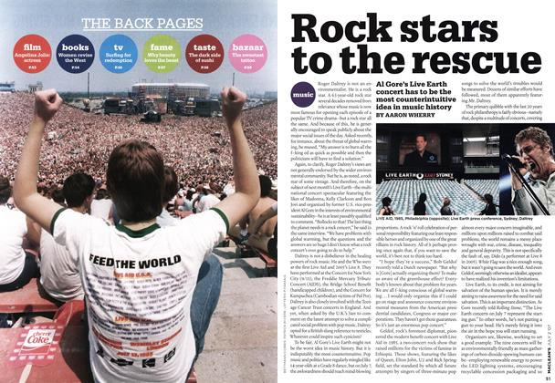 Article Preview: Rock stars to the rescue, JUL. 2nd 2007 2007 | Maclean's
