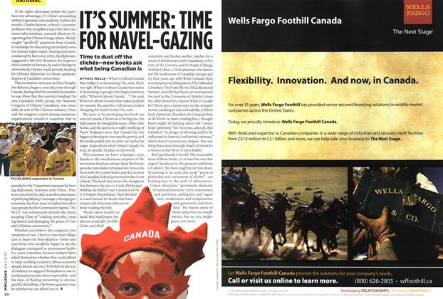Article Preview: IT'S SUMMER: TIME FOR NAVEL-GAZING, JUL. 9th 2007 2007 | Maclean's