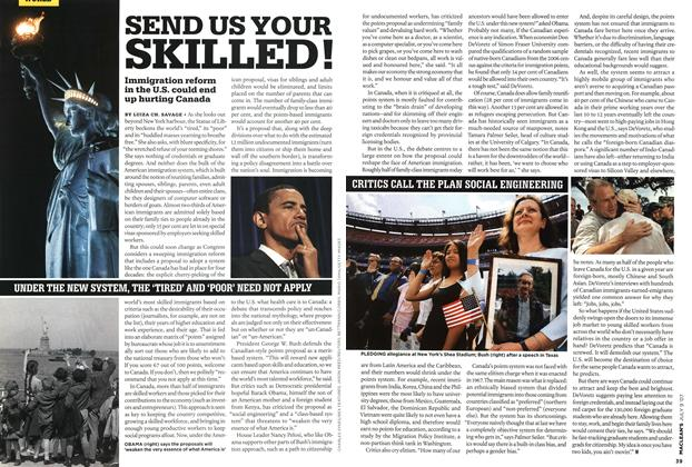 Article Preview: SEND US YOUR SKILLED!, JUL. 9th 2007 2007 | Maclean's