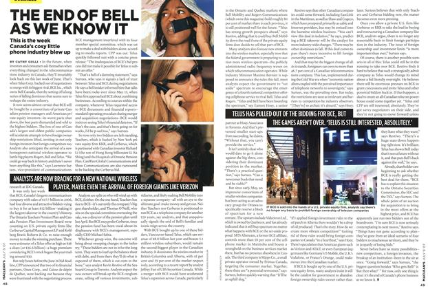 Article Preview: THE END OF BELL AS WE KNOW IT, JUL. 9th 2007 2007 | Maclean's