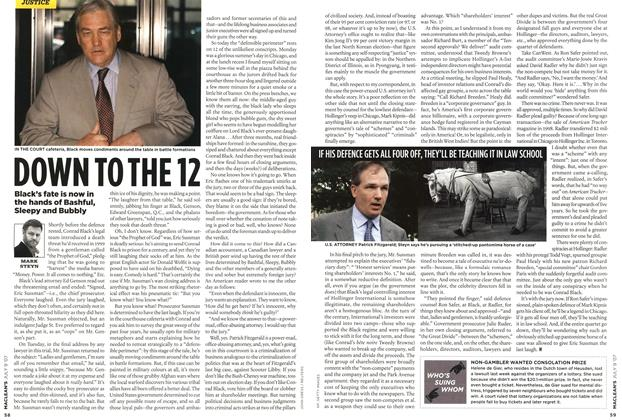 Article Preview: DOWN TO THE 12, JUL. 9th 2007 2007 | Maclean's