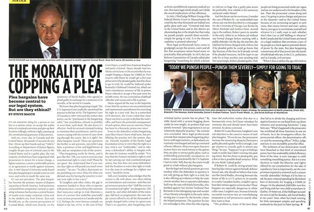 Article Preview: THE MORALITY OF COPPING A PLEA, JUL. 9th 2007 2007 | Maclean's