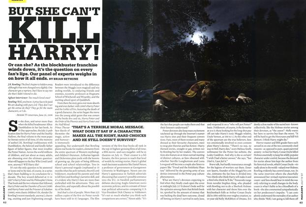 Article Preview: BUT SHE CAN'T KILL HARRY!, JUL. 9th 2007 2007 | Maclean's