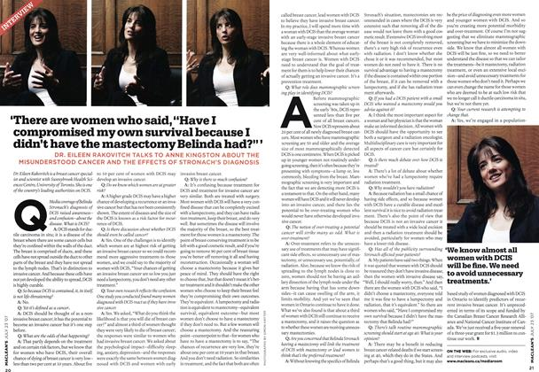 "Article Preview: 'There are women who said, ""Have I compromised my own survival because I didn't have the mastectomy Belinda had?"" ', JUL. 23rd 2007 2007 