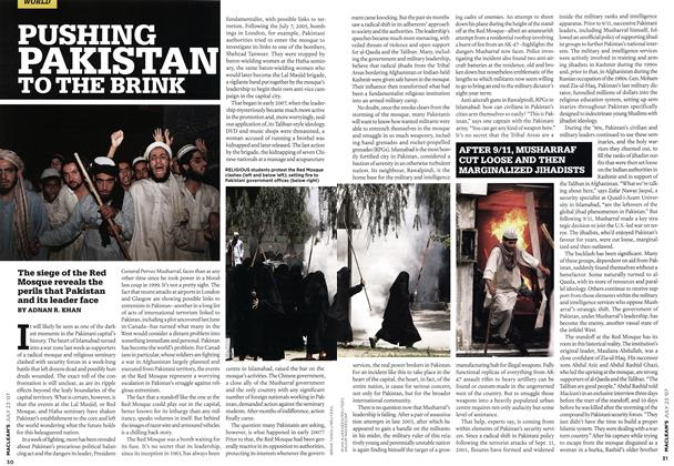 Article Preview: PUSHING PAKISTAN TO THE BRINK, JUL. 23rd 2007 2007 | Maclean's