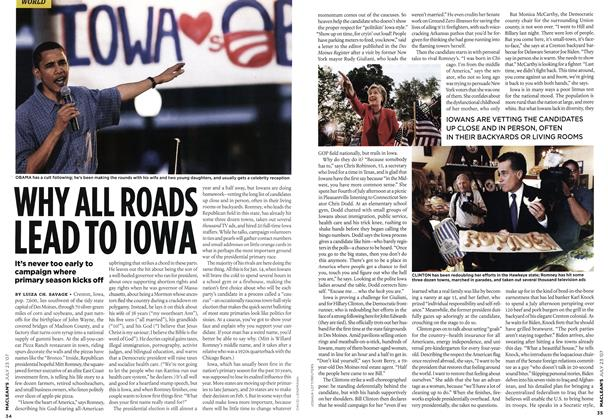 Article Preview: WHY ALL ROADS LEAD TO IOWA, JUL. 23rd 2007 2007 | Maclean's