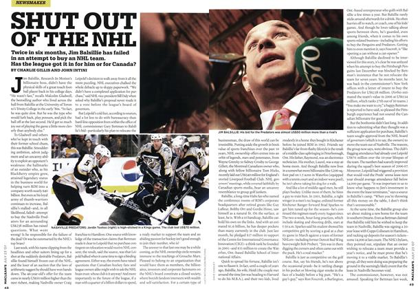 Article Preview: SHUT OUT OF THE NHL, JUL. 23rd 2007 2007 | Maclean's
