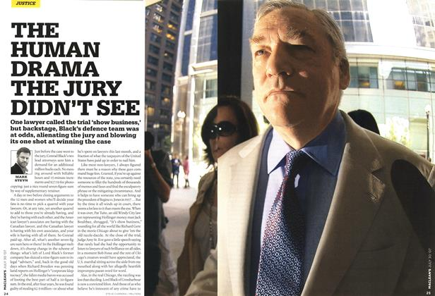 Article Preview: THE HUMAN DRAMA THE JURY DIDN'T SEE, JUL. 30th 2007 2007 | Maclean's