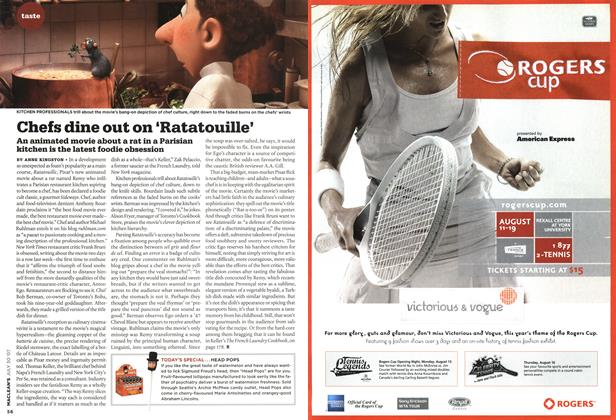 Article Preview: Chefs dine out on 'Ratatouille', JUL. 30th 2007 2007 | Maclean's