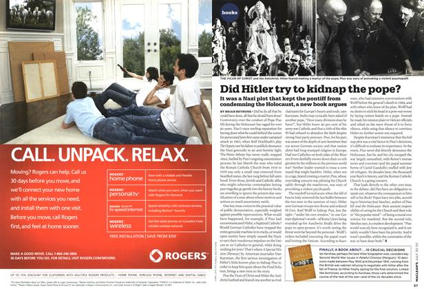 Article Preview: Did Hitler try to kidnap the pope?, JUL. 30th 2007 2007 | Maclean's