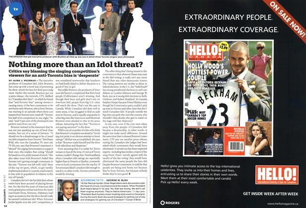 Article Preview: Nothing more than an Idol threat?, JUL. 30th 2007 2007 | Maclean's