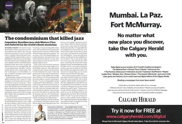 Article Preview: The condominium that killed jazz, JUL. 30th 2007 2007 | Maclean's