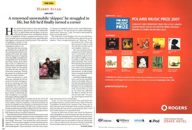 Article Preview: HARRY AVIAK 1962-2007, JUL. 30th 2007 2007   Maclean's