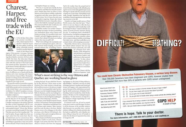 Article Preview: Charest, Harper, and free trade with the EU, JUL. 30th 2007 2007 | Maclean's