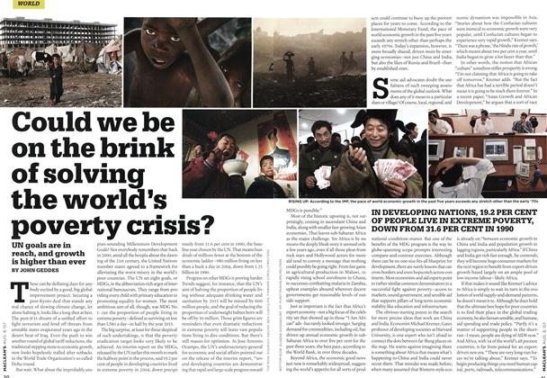 Article Preview: Could we be on the brink of solving the world's poverty crisis?, AUG. 6th 2007 2007 | Maclean's