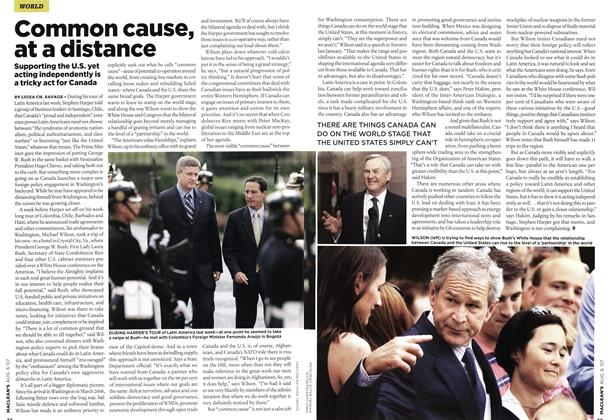 Article Preview: Common cause, at a distance, AUG. 6th 2007 2007 | Maclean's