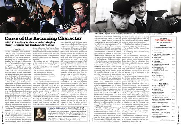 Article Preview: Curse of the Recurring Character, AUG. 6th 2007 2007 | Maclean's