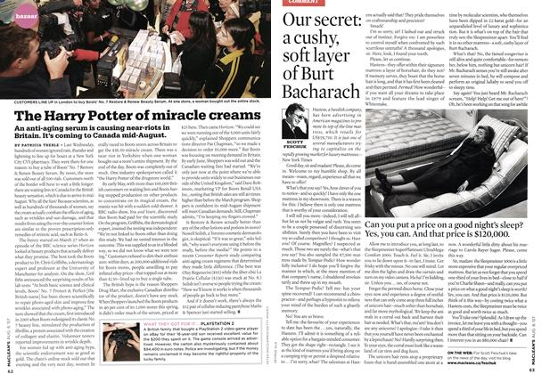 Article Preview: Our secret: a cushy, soft layer of Burt Bacharach, AUG. 6th 2007 2007 | Maclean's