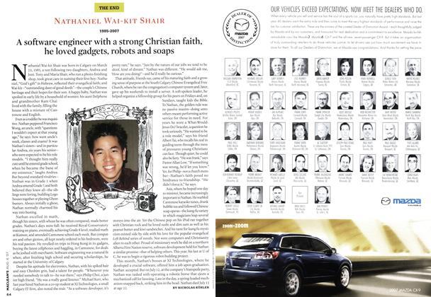 Article Preview: NATHANIEL WAI-KIT SHAIR 1985-2007, AUG. 6th 2007 2007 | Maclean's