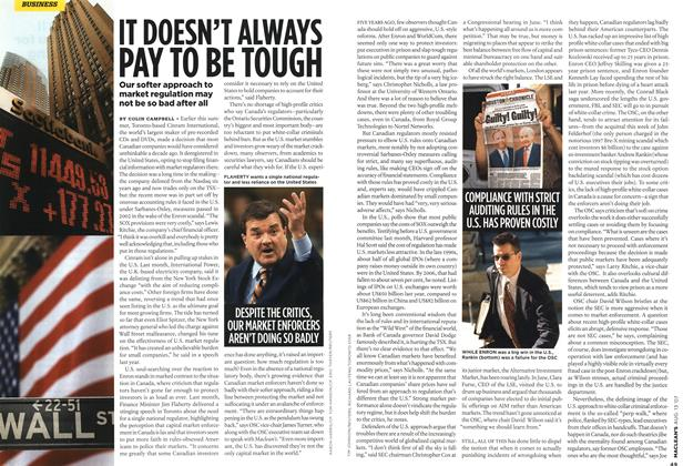 Article Preview: IT DOESN'T ALWAYS PAY TO BE TOUGH, AUG. 13th 2007 2007 | Maclean's