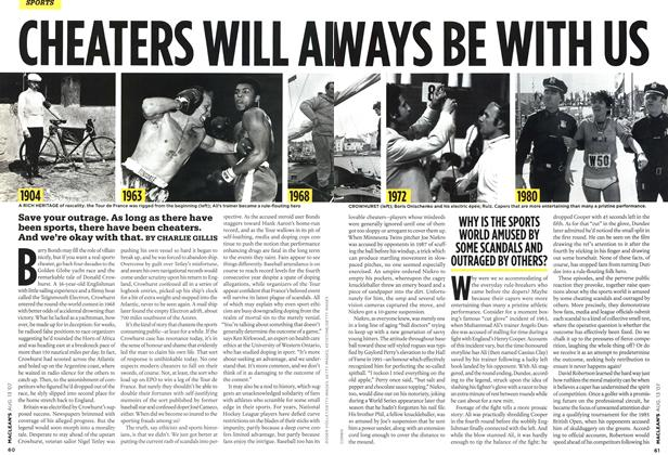 Article Preview: CHEATERS WILL ALWAYS BE WITH US, AUG. 13th 2007 2007 | Maclean's