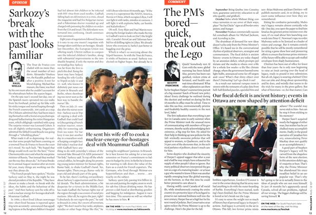 Article Preview: The PM's bored— quick, break out the Lego, AUG. 13th 2007 2007 | Maclean's