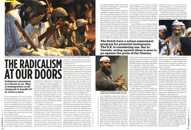 Article Preview: THE RADICALISM AT OUR DOORS, AUG. 27th 2007 2007 | Maclean's