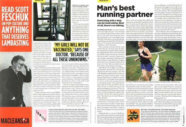 Article Preview: Man's best running partner, AUG. 27th 2007 2007 | Maclean's