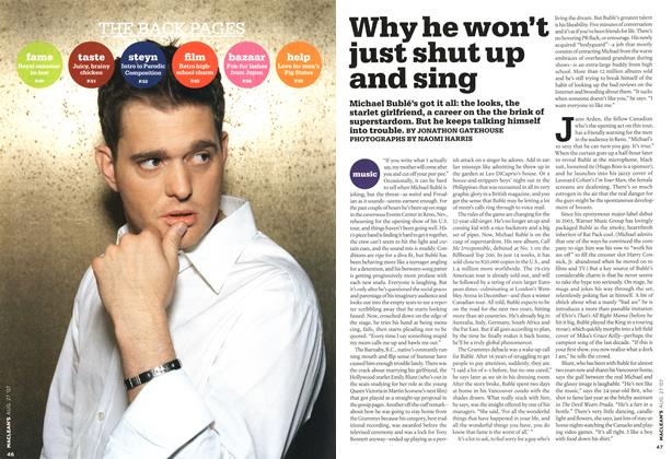 Article Preview: Why he won't just shut up and sing, AUG. 27th 2007 2007 | Maclean's