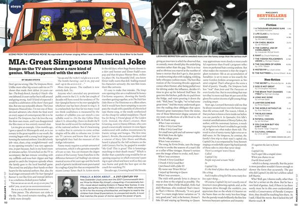 Article Preview: MIA: Great Simpsons Musical Joke, AUG. 27th 2007 2007 | Maclean's