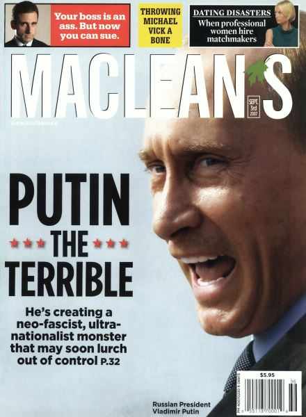 Issue: - SEPT. 3rd 2007 | Maclean's