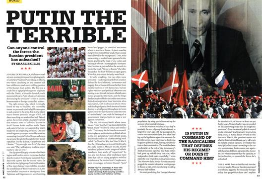 PUTIN THE TERRIBLE - SEPT. 3rd 2007 | Maclean's