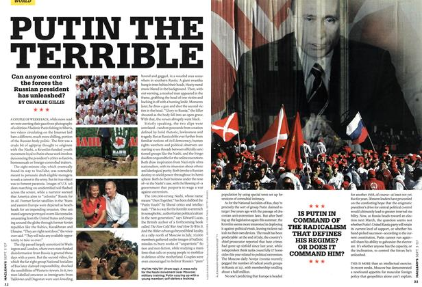 Article Preview: PUTIN THE TERRIBLE, SEPT. 3rd 2007 2007 | Maclean's