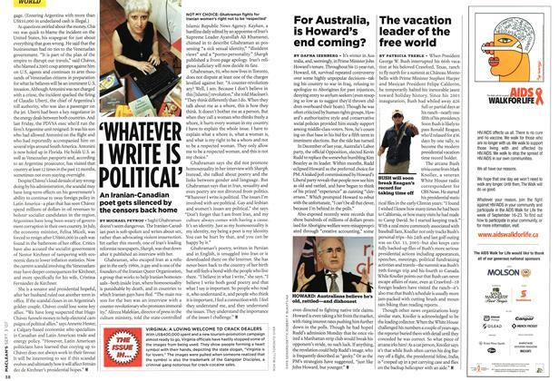 Article Preview: 'WHATEVER I WRITE IS POLITICAL', SEPT. 3rd 2007 2007 | Maclean's