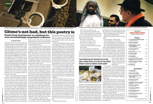 Article Preview: Gitmo's not bad, but this poetry is, SEPT. 3rd 2007 2007 | Maclean's