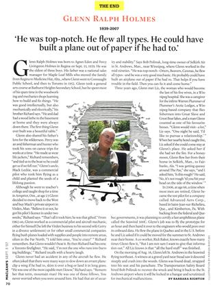 Article Preview: GLENN RALPH HOLMES 1939-2007, SEPT. 3rd 2007 2007 | Maclean's