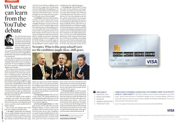 Article Preview: What we can learn from the YouTube debate, SEPT. 3rd 2007 2007 | Maclean's