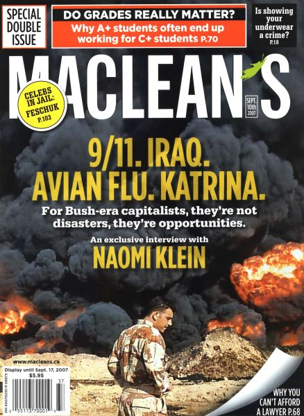 Issue: - SEPT. 10th 2007 | Maclean's