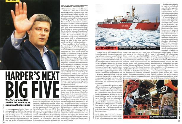 Article Preview: HARPER'S NEXT BIG FIVE, SEPT. 10th 2007 2007 | Maclean's