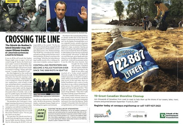 Article Preview: CROSSING THE LINE, SEPT. 10th 2007 2007 | Maclean's