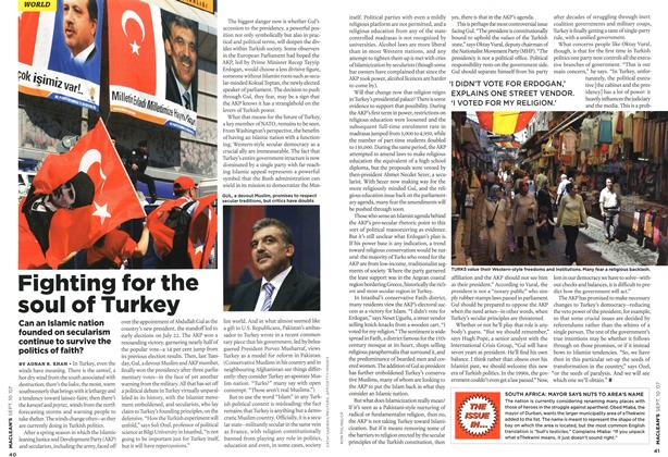Article Preview: Fighting for the soul of Turkey, SEPT. 10th 2007 2007 | Maclean's