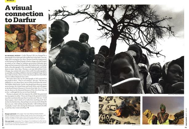 Article Preview: A visual connection to Darfur, SEPT. 10th 2007 2007 | Maclean's