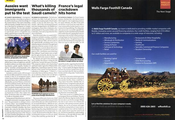 Article Preview: What's killing thousands of Saudi camels?, SEPT. 10th 2007 2007 | Maclean's