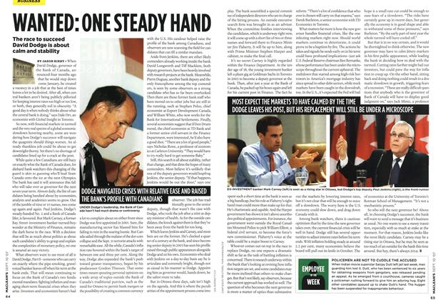 Article Preview: WANTED: ONE STEADY HAND, SEPT. 10th 2007 2007 | Maclean's