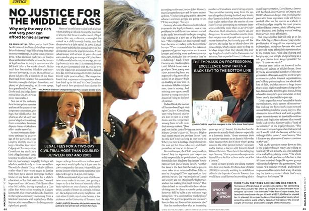 Article Preview: NO JUSTICE FOR THE MIDDLE CLASS, SEPT. 10th 2007 2007 | Maclean's
