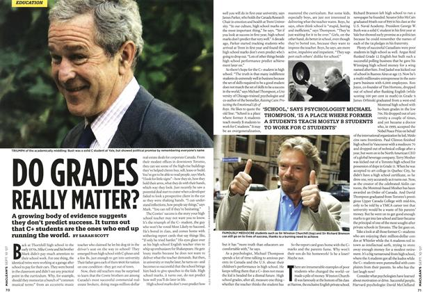 Article Preview: DO GRADES REALLY MATTER?, SEPT. 10th 2007 2007 | Maclean's