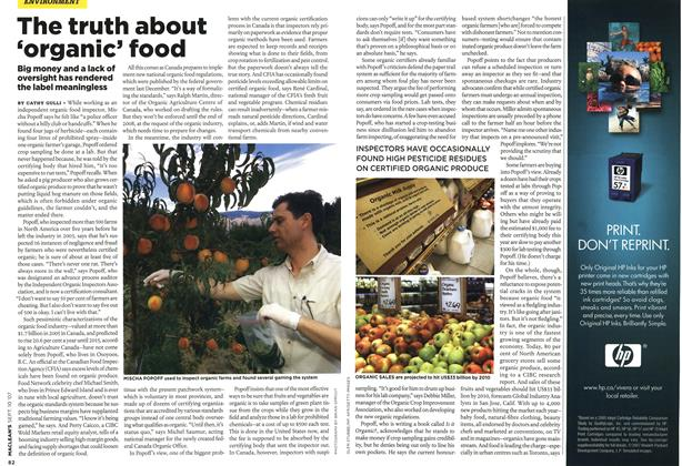 Article Preview: The truth about 'organic' food, SEPT. 10th 2007 2007 | Maclean's