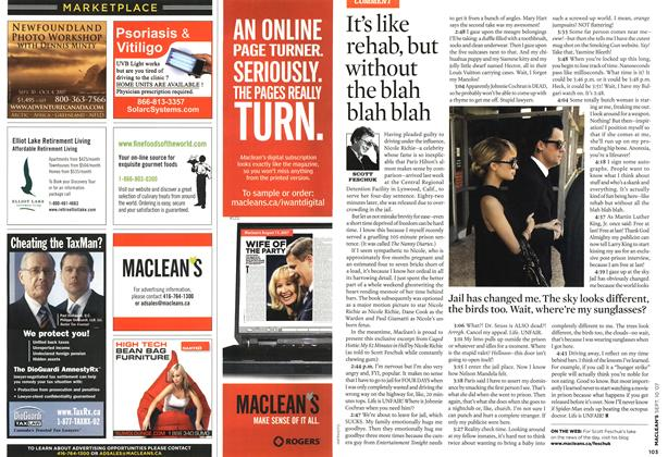 Article Preview: It's like rehab, but without the blah blah blah, SEPT. 10th 2007 2007 | Maclean's